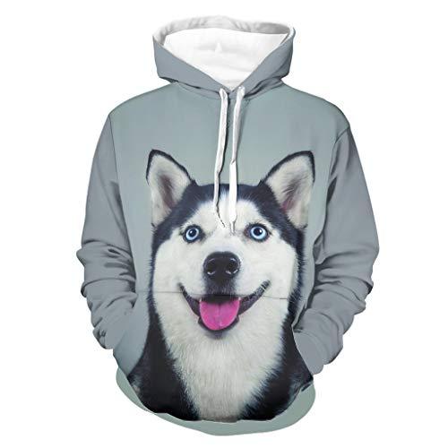 Cutenono Sudadera unisex con capucha para perros y animales, de manga larga, con bolsillos blanco 5XL