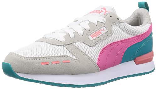 PUMA R78, Zapatillas Unisex Adulto, Blanco White/Glowing Pink/Gray Violet, 39 EU