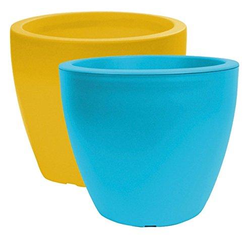 Fioriera linea D = 25cm H = 21cm blu Polipropilene–Fioriera Vaso Per Piante Fioriera Vaso Per Piante Vaso Fioriera Umtopf giardino vasi da piante vaso fioriera vaso da fiori da balcone plastica