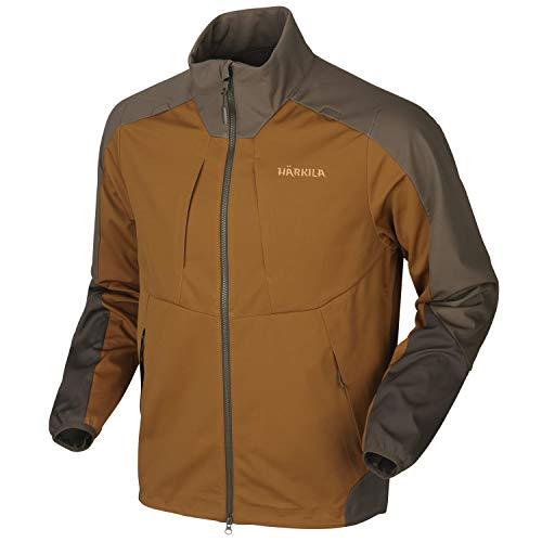 Chaqueta de forro polar para hombre Dukila Magni con membrana HSP resistente al viento en naranja y verde, chaqueta elástica impermeable para cazadores y guía de perros, talla: 4XL, color: naranja