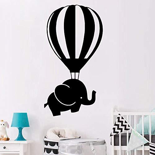 Calcomanías de elefante y globo divertidas pegatinas de pared extraíbles carteles para decoración de habitación de niños pegatinas de pared pegatinas A9 57x29cm