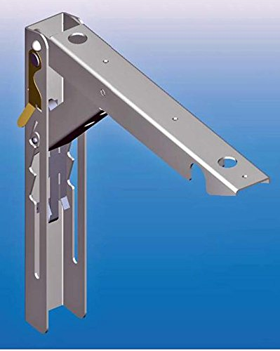 1–Herraje galvanizado con soporte de seguridad para mesa plegable