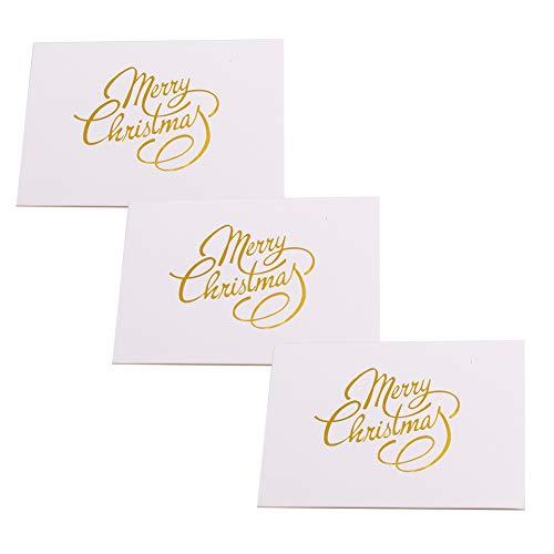 100 Pezzi Cartoline di Natale Biglietto Auguri Natale Christmas Cards