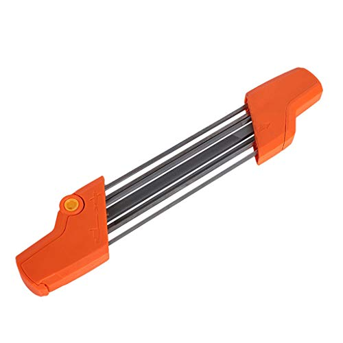 WINLISTING Vatertag Easy File 2 in 1 Kettensägen-Kettenschärfgerät 5 / 32P 4.0mm Kettenschleifwerkzeug (orange)