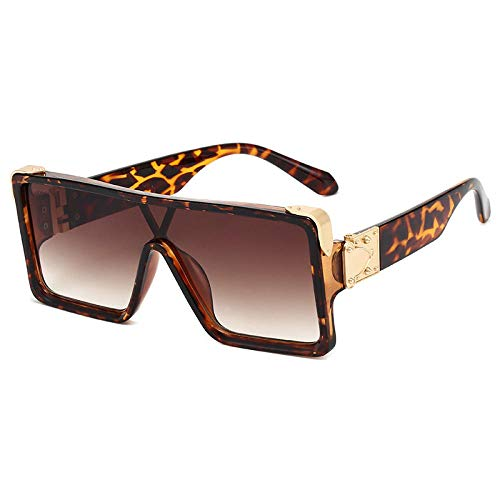 Gosunfly Nuevas gafas de sol cuadradas de succión smelans modelos femeninos Gafas de sol europeas y americanas-Leopardo