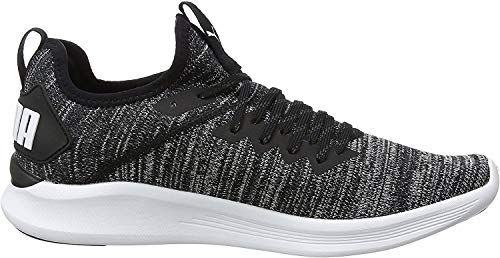 Puma Herren IGNITE Flash evoKNIT Sneakers, Schwarz Black Asphalt White, 42.5 EU