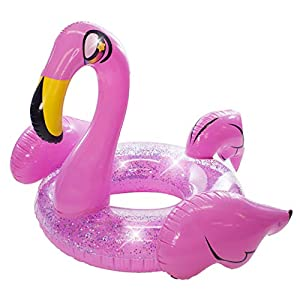 Poolcandy Inflatable Glitter Animal Collection – Jumbo Pool Float – Summer Pool Raft Lounge for Adults & Kids (Dragon)