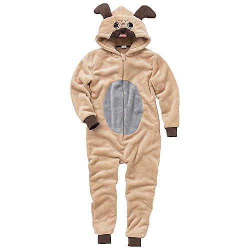 Disfraz enterizo tipo mono infantil unisex, diseño de perro Marrón marrón 10/11 Años