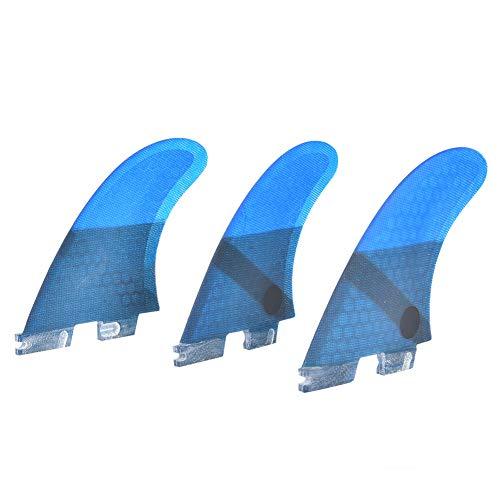 MEIFENG Aleta de Tabla de Surf, Aleta de Tabla de Surf Inflable Tabla de Paleta Fibra de Vidrio FCS2 Elegante y Conveniente Aleta de Cola de Tabla de Surf Azul Accesorio de Surf Estable Flexible