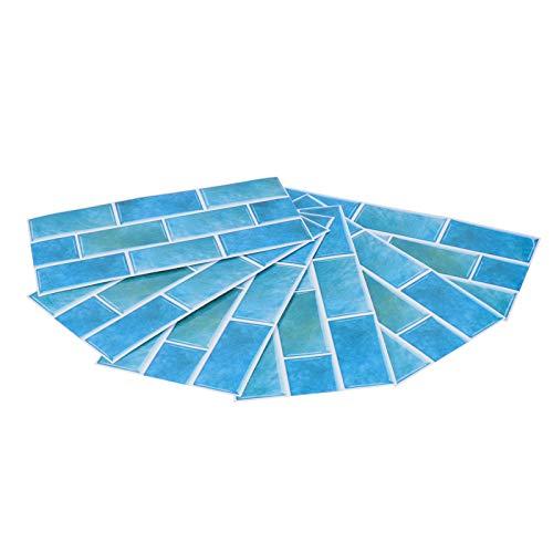 Adhesivo tridimensional para azulejos, calcomanía autoadhesiva para pared Hermosa decoración de pared impermeable Papel tapiz de cocina Suministros para el hogar a prueba de humedad