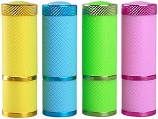 Lámpara de uñas 4 Unids/lote Lámpara Luz De Uñas Para La Luz Esmalte De Uñas Secadora Mini Linterna Antorcha Para Uñas Arte Herramientas De Manicura