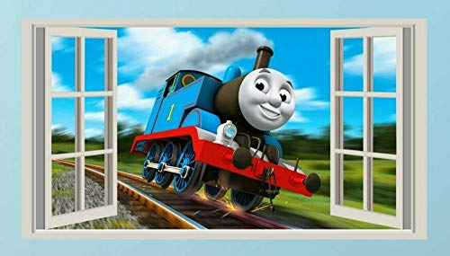 Wandtattoo'Thomas Tank Engine, Aufkleber, Kinder, Aufkleber, Schlafzimmer, 3d, Wandkunst, Wandbild'