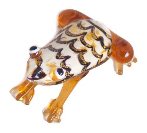 Mooie glazen kikker sculptuur ornament miniatuur geschenk