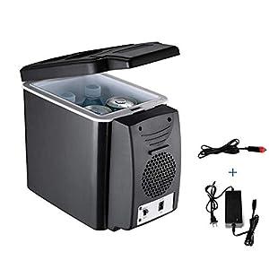 Hyy-yy Mini réfrigérateur, électrique Frige Cooler 6 litres maison et voiture à double usage froid et chaud Box (avec bandoulière)