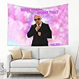 PLUM PRAWN Mr. Worldwide, Been there, done that Tapestry Wall Hanging Art Wall Hanging Tapestry for Living Room Bedroom Home Decor 60 x 40 in
