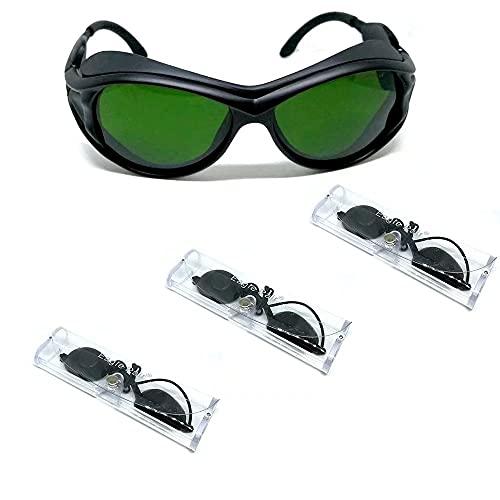 1pc IPL CE 200nm-2000nm IR Óculos de proteção de laser Óculos de operador de segurança com 3pcs Beauty Client Eyepatch Eyeshield