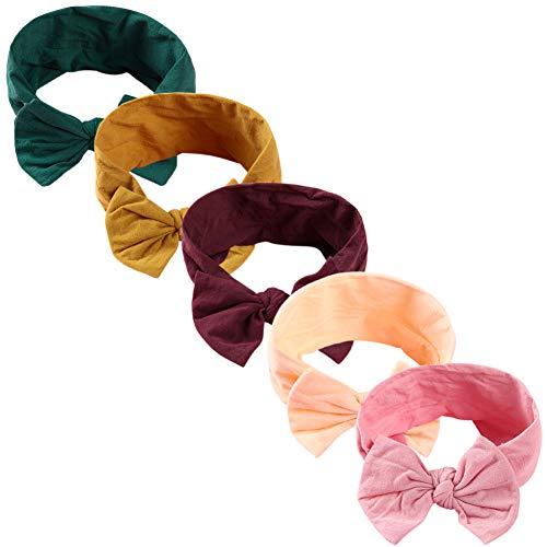 COUXILY Baby Mädchen Stirnbander Top Knot Turban Headwrap für 3-48 Monaten (B06)