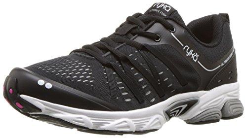 Ryka Women's Ultimate Form Running Shoe, Black/Silver, 8.5 M US