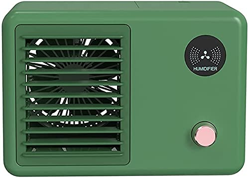XJYDS Refrigeratore ad aria portatile, mini condizionatore d'aria a 3 in 1, umidificatore e 7 colori luci notturne con 3 dispositivi di raffreddamento dell'aria evaporativo personale regolabile, per u