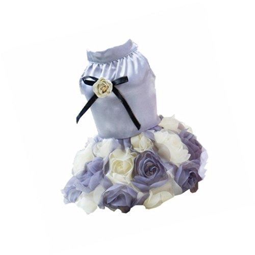 F Fityle Zarten Pet Rose Dress Modische Abendkleid Party Kostüm Für Hunde Katzen - M