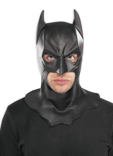 Batman: The Dark Knight Full Overhead Latex Mask Black One Size