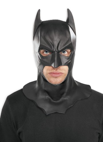 Rubie's Costume Batman The Dark Knight Adult Batman Full Overhead Latex Mask Black One Size