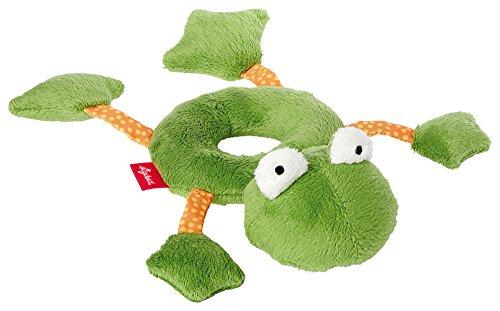 sigikid, 41173, fille et garçon, hochet en tissu grenouille, vert