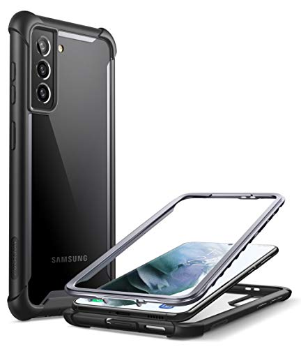 i-Blason Ares Series Case for Samsung Galaxy S21 5G (6.2 Inch), Rugged Clear Bumper Case Without Built-in Screen Protector ) (Black)