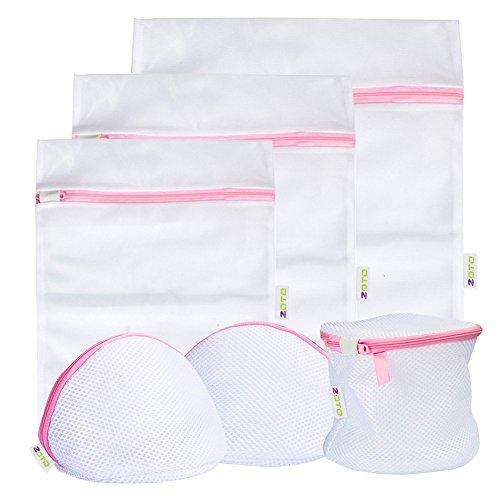 Bolsa de Lavado, 6Juego Malla widgets BH Lavado Bolsa con cremallera, lencería Ropa Saco para red lavadora secadora ropa bolsa, ropa interior, calcetines, Baby Cloth, Viajes Ropa Sucia