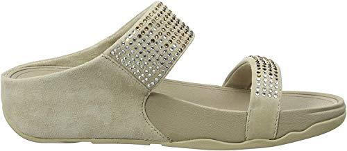 FitFlop Women's Flare Slide Sandal,Pebble,8 M US