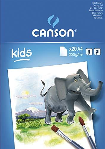 Canson Kids Papier à dessin 20 feuilles A4 21 x 29,7 cm Blanc