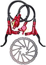 BUCKLOS ?US Stock? MTB Hydraulic Disc Brakes Sets, 160mm Disc Brake Rotor and Brake Adapter, Aluminum Alloy Front Rear Disc Brake Levers, fit Mountain Bike Road Bicycle(Left Rear?Right Front)