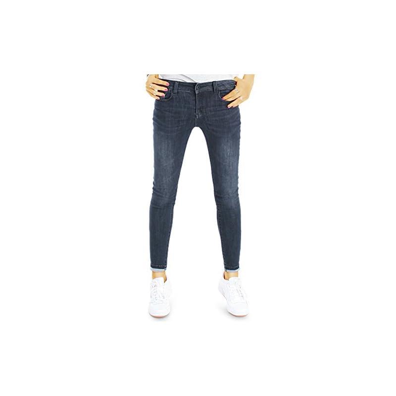 bestyledberlin Damen Jeans superenge Skinny