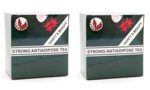 2 x Té fuerte contra adiposo (STRONG ANTI - ADIPOSE TEA) ; Desintoxicante laxante, rápida pérdida de peso - 60 bolsas (2x30 bolsas)