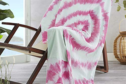 Burrito Blanco Pareo para Playa 196 | Toalla Pareo con Diseño Estampado de Tai Dai Algodón 100%...