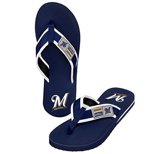 Forever Collectibles MLB Milwaukee Brewers Herren Spind Label Contour, X-Large, Blau