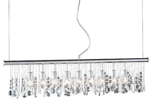 Action Hanglamp, 9 Lampen, Lengte 120 Cm, Chroom