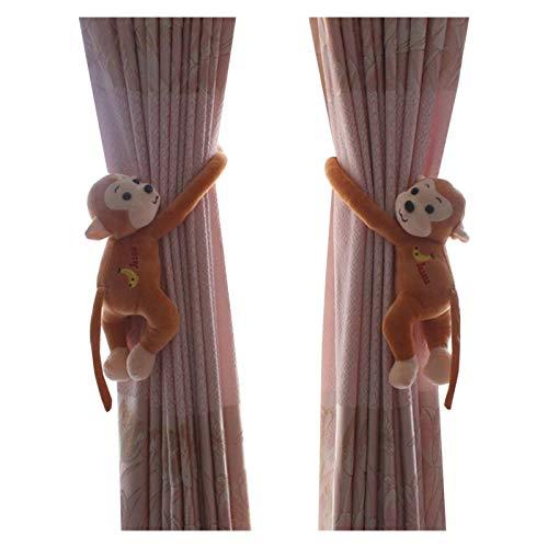 Hebilla de cuerda de cortina Oso de la historieta 2pcs titular Nursery dormitorio cortina de Tieback de la hebilla de cierre de gancho hebilla de abrazadera Decoración del dormitorio Para la fijación