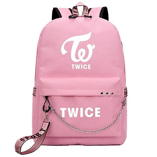 Mochila informal Kpop-TWICE, utilizada para el apoyo TWICE Band Music Fans Gift...