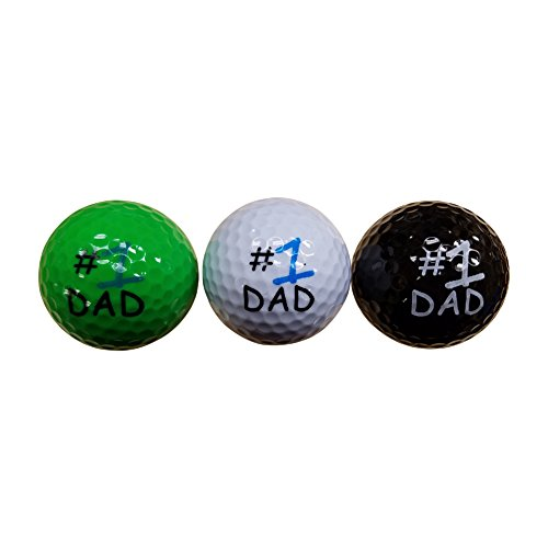 BZANY Father's Day Number One Dad Golf Balls (3 Pack)
