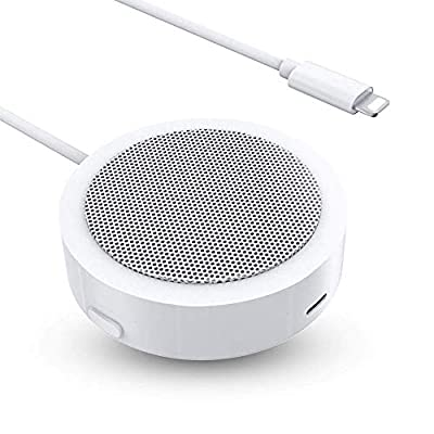 Conference Speaker,Powered Portable Line-In Speaker Built-in Microphone with Crystal Clear Stereo Sound Compatible with Phone/Pad/Pod,No Batteries or Charging Required from TOP HIGH TECHNOLOGY CO.,LTD