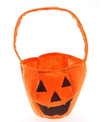 Tas - handtas - pompoen - trick or treat - kostuum - vermomming - accessoires - kinderen - oranje - gezicht