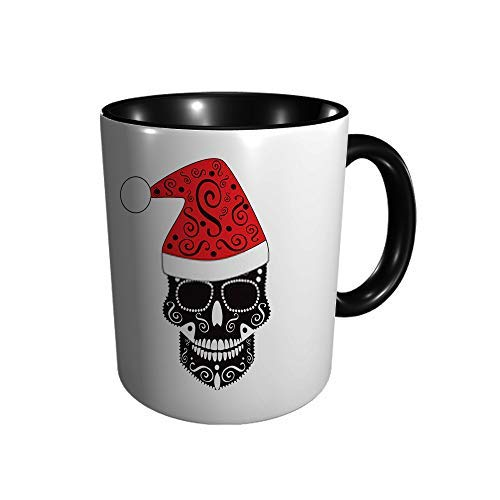 Hdadwy Neujahrsschädel Keramikbecher Kaffee Tee Geschenk Geschenk Weihnachten Weihnachten 11oz