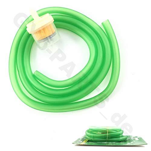 Benzine-slang in groen transparant & benzinemotor m. magneet/gasaansluiting bijv. voor BAOTIAN HYOSUNG Jinlun REX RS YIBEN YIYING BENZHOU ZNEN KYMCO China Roller Quad ATV