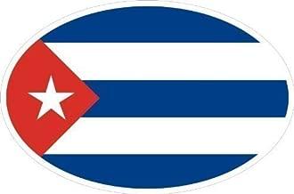 Bandera de Cuba Pegatinas ovalado Caravan Truck Bike Auto Adhesivo 10x 6,6cm