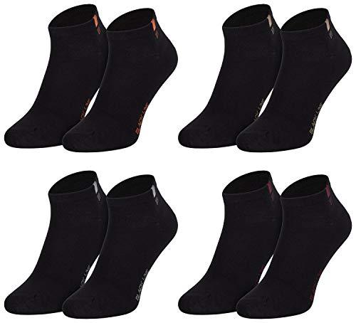Tobeni 8 Paar Herren Sneakersocken Füsslinge Sneaker Socken Baumwolle Spitze ohne Naht Farbe Schwarz-farb. Detail Grösse 43-46