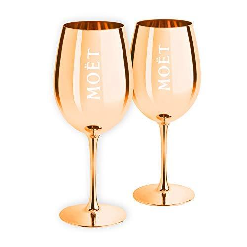 Moët & Chandon Limited Edition Ibiza Imperial Sektgläser aus reinem Glas gold