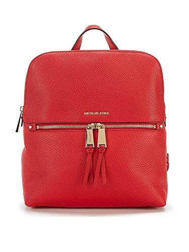 Michael Kors Rhea Medium Slim Backpack Bright Red