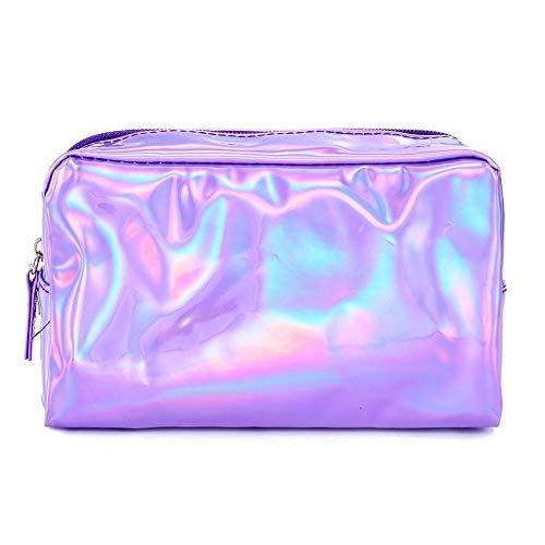 WEMUR Beauty Case Borsa cosmetica Cosmetic Bag Bag-Viola Cosmetic (Color : Purple)