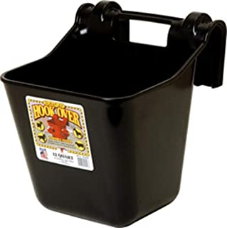 Little Giant Farm & Ag Miller Manufacturing HF12BLACK 12-Quart Black Hook Over Feeder